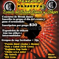 Evento de break dance y stikers