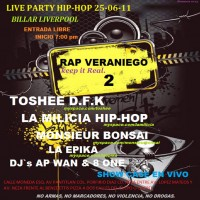 Live party hip hop | 25 junio 2011