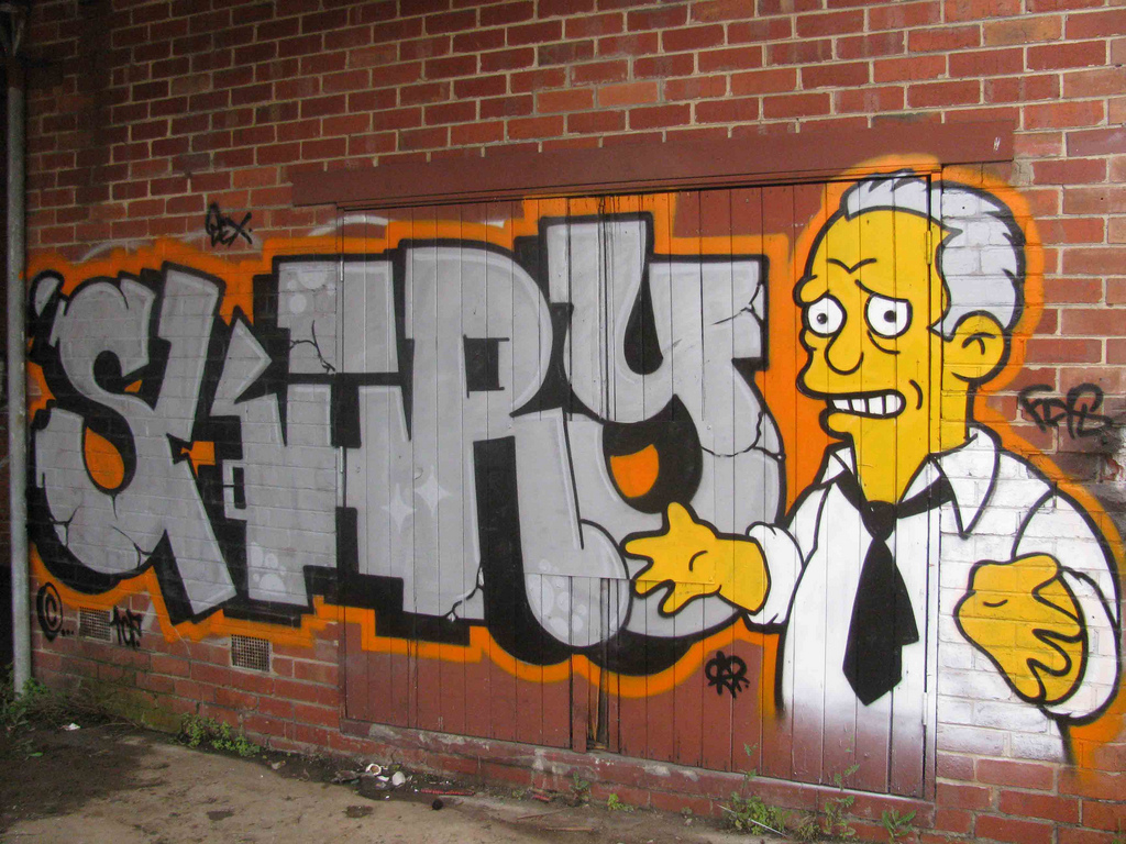 Graffiti de Los Simpsons