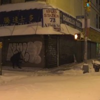 Graffiti: Amuse126 + Merlot | días de nieve en New York