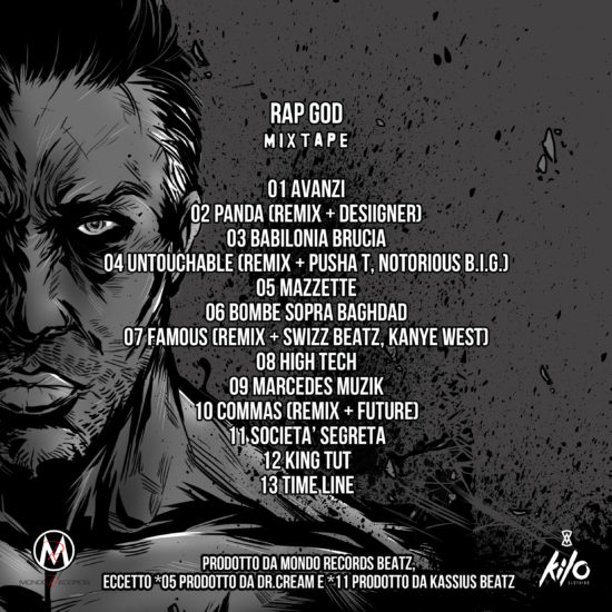 RAP GOD MIXTAPE TRACKLIST